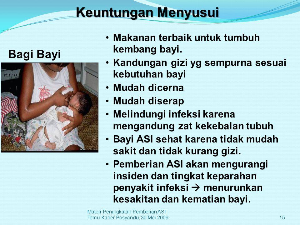 Keuntungan Menyusui Bagi Bayi
