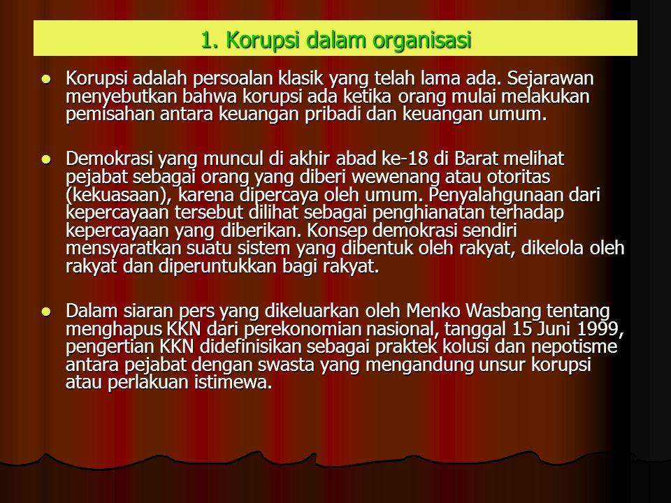 1. Korupsi dalam organisasi