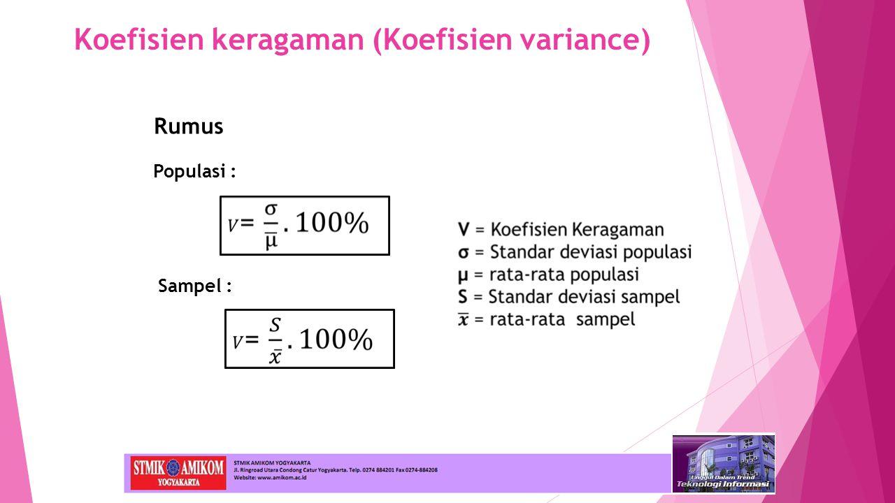 Koefisien keragaman (Koefisien variance)