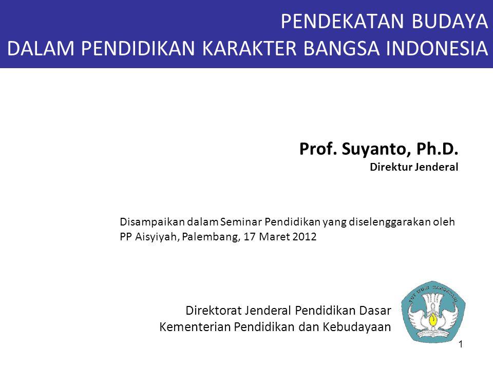PENDEKATAN BUDAYA DALAM PENDIDIKAN KARAKTER BANGSA INDONESIA
