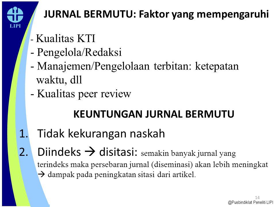 JURNAL BERMUTU: Faktor yang mempengaruhi
