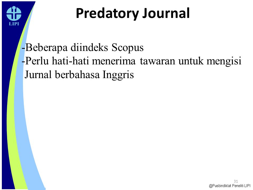 Predatory Journal Beberapa diindeks Scopus