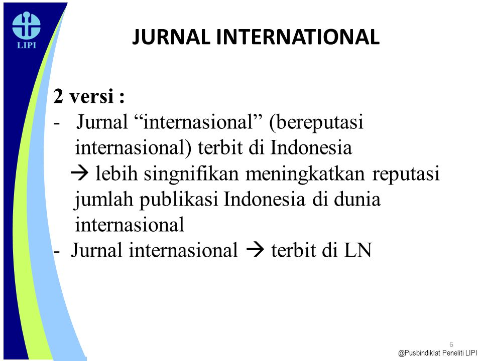 JURNAL INTERNATIONAL 2 versi : Jurnal internasional (bereputasi