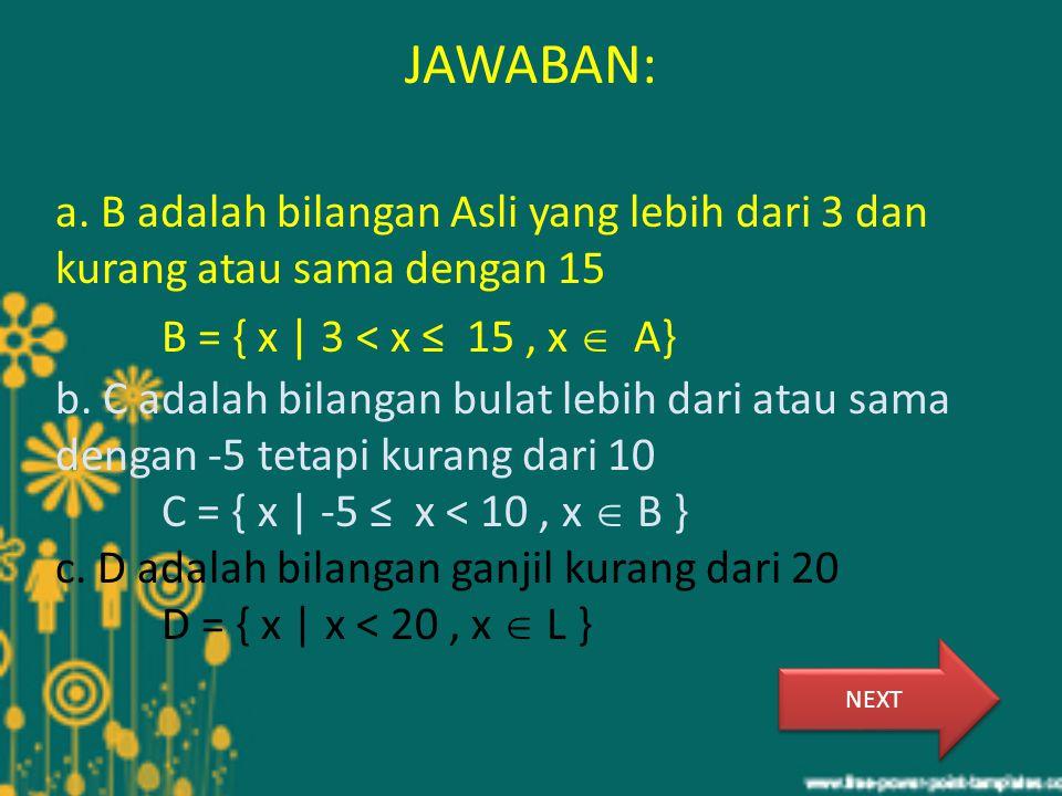 JAWABAN: