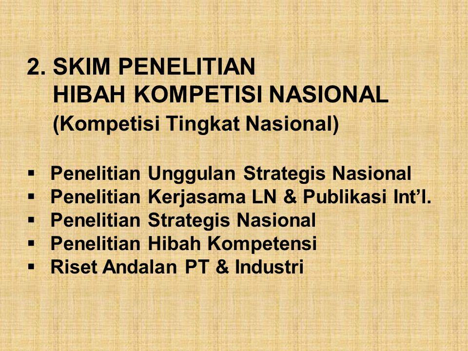 HIBAH KOMPETISI NASIONAL (Kompetisi Tingkat Nasional)