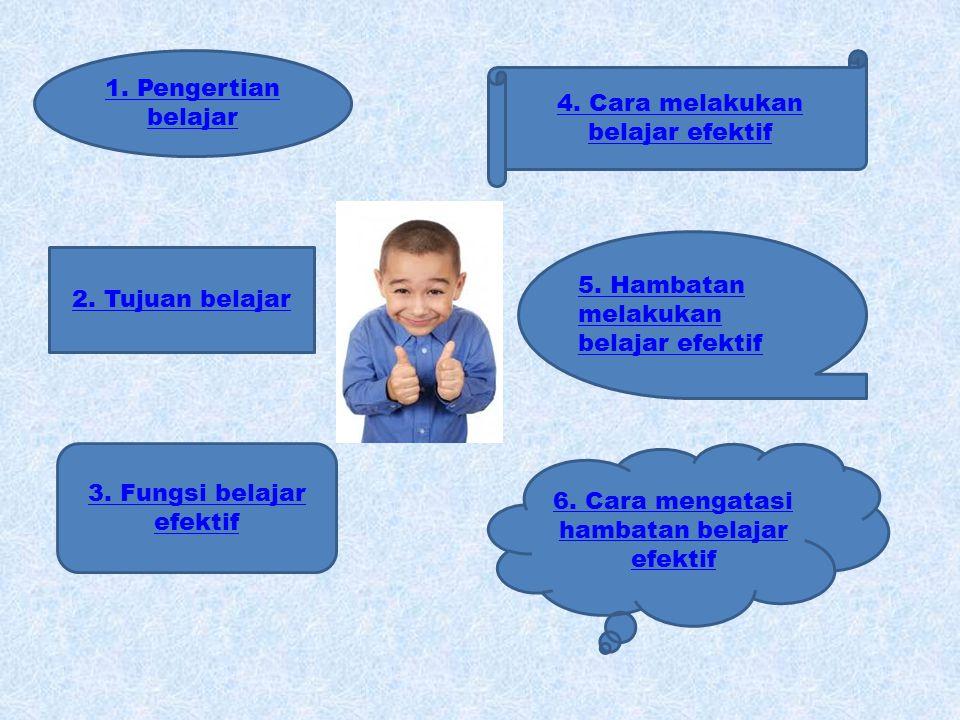 4. Cara melakukan belajar efektif