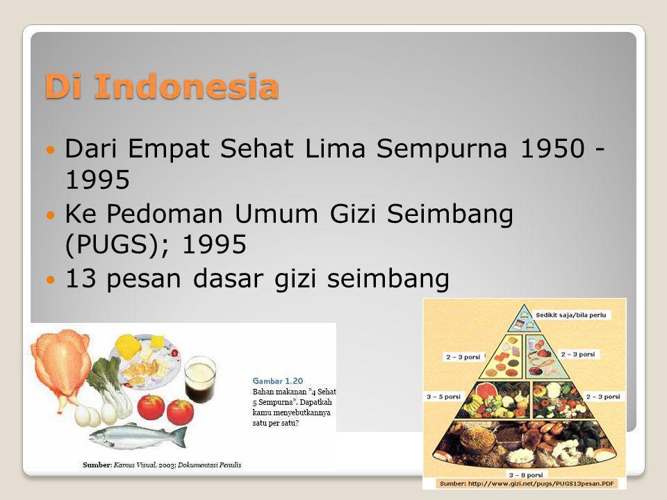 Di Indonesia Dari Empat Sehat Lima Sempurna 1950 - 1995