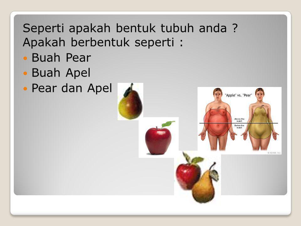 Seperti apakah bentuk tubuh anda Apakah berbentuk seperti :