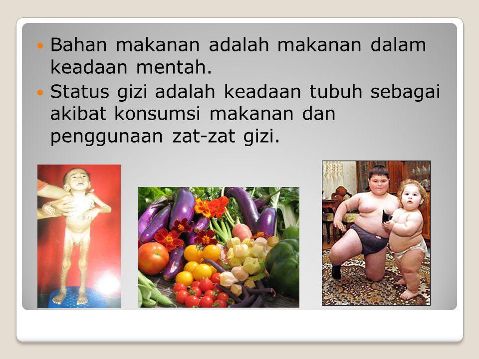 Bahan makanan adalah makanan dalam keadaan mentah.