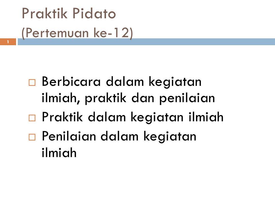 Praktik Pidato (Pertemuan ke-12)