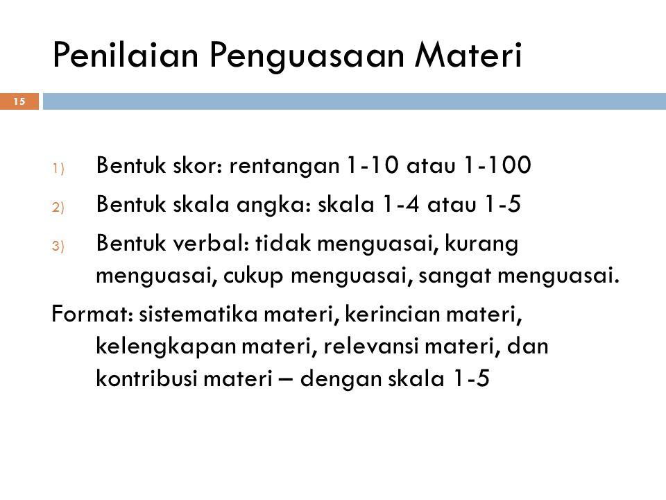 Penilaian Penguasaan Materi