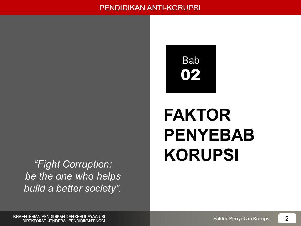 FAKTOR PENYEBAB KORUPSI