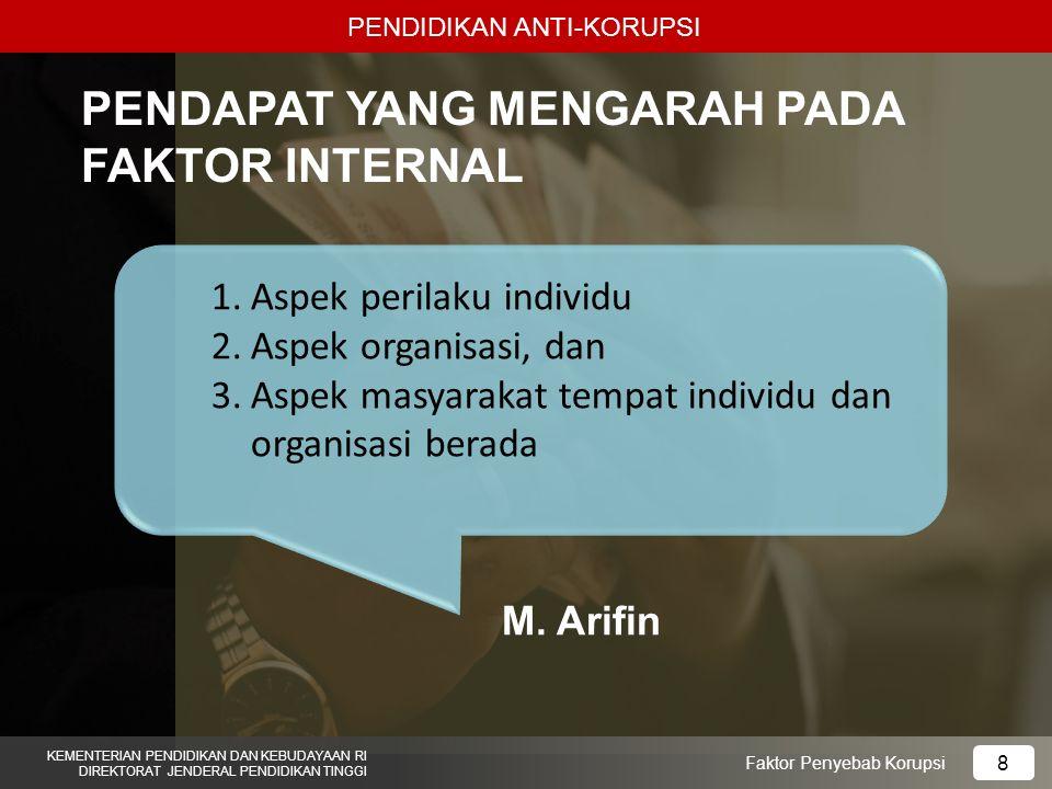 PENDAPAT YANG MENGARAH PADA FAKTOR INTERNAL