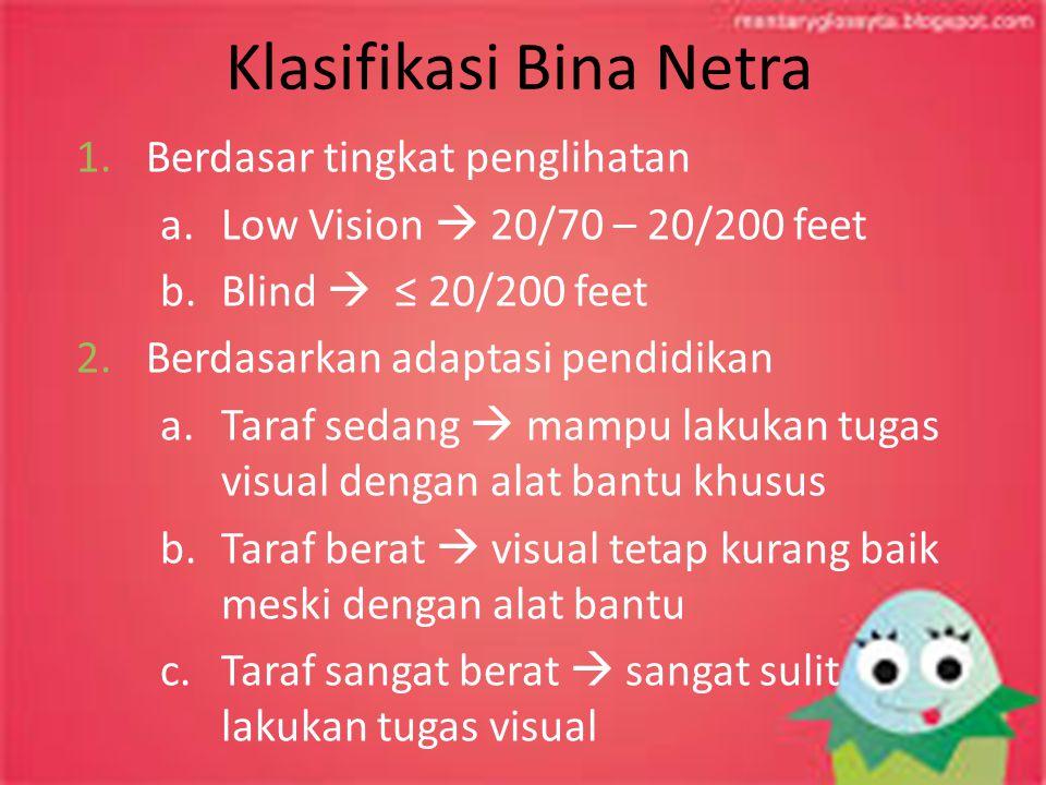 Klasifikasi Bina Netra