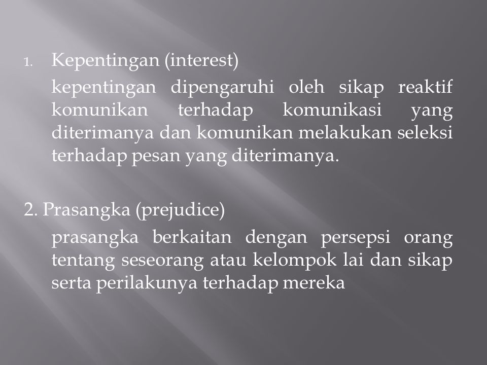Kepentingan (interest)