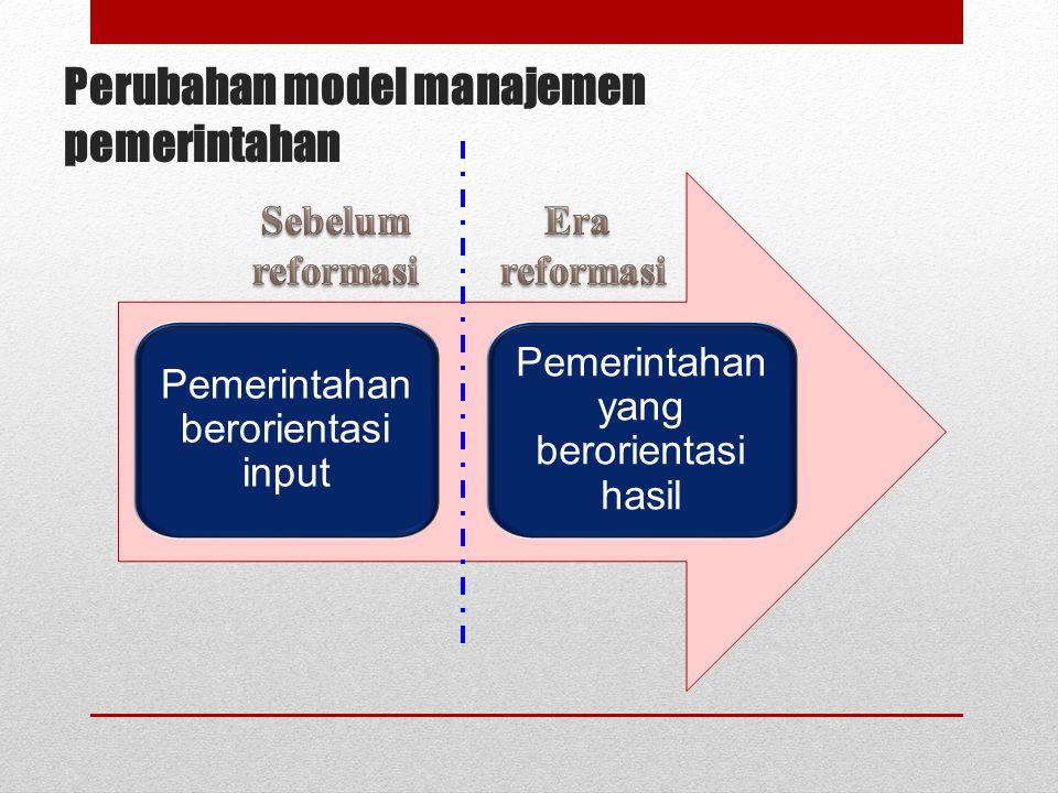 Perubahan model manajemen pemerintahan