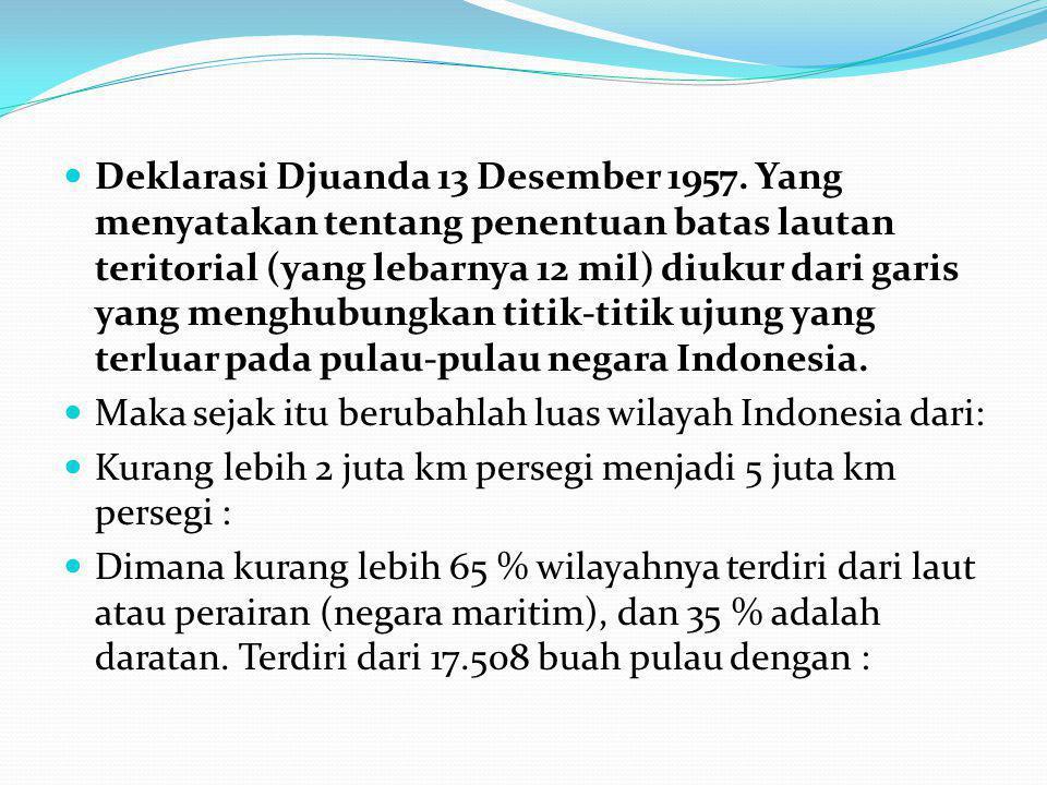 Deklarasi Djuanda 13 Desember 1957