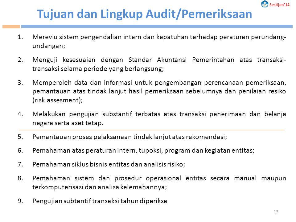Tujuan dan Lingkup Audit/Pemeriksaan