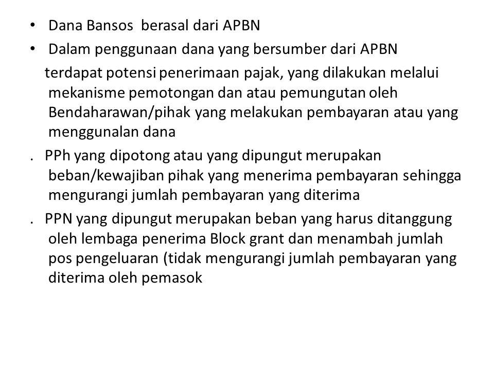 Dana Bansos berasal dari APBN