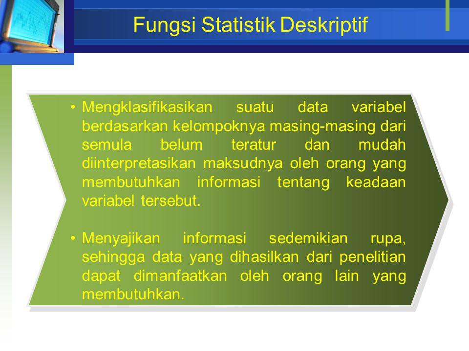 Fungsi Statistik Deskriptif