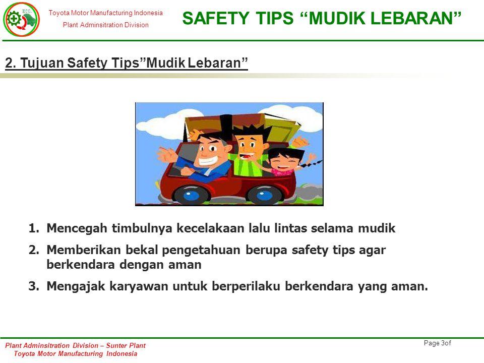 2. Tujuan Safety Tips Mudik Lebaran
