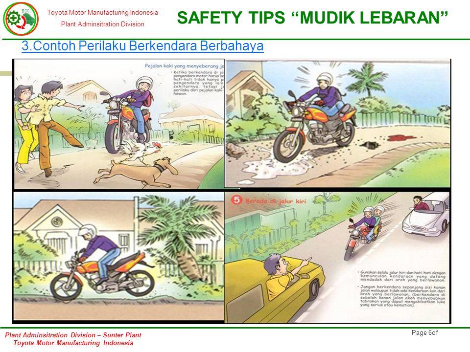 3.Contoh Perilaku Berkendara Berbahaya