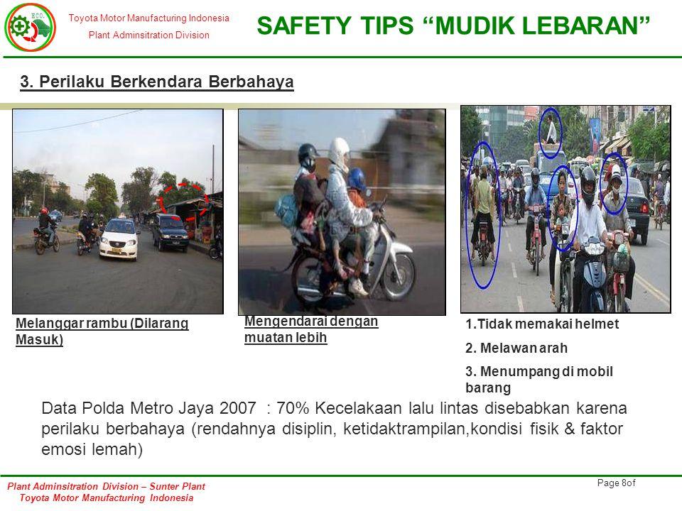 3. Perilaku Berkendara Berbahaya