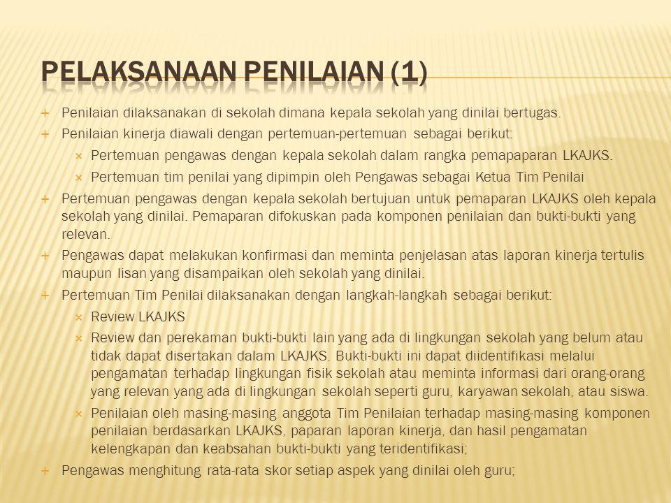 Pelaksanaan Penilaian (1)