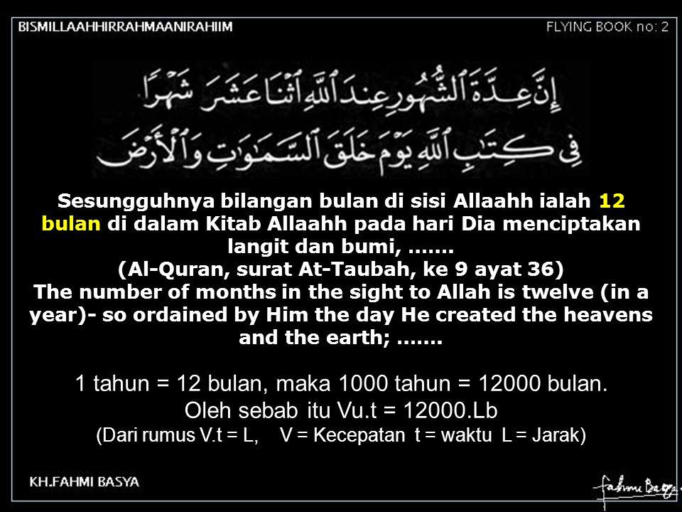 (Al-Quran, surat At-Taubah, ke 9 ayat 36)