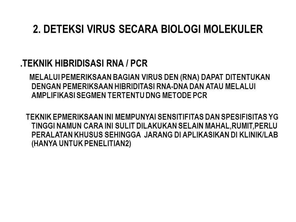 2. DETEKSI VIRUS SECARA BIOLOGI MOLEKULER