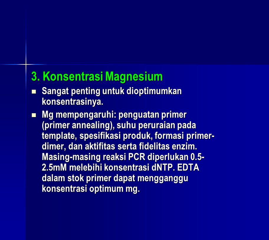 3. Konsentrasi Magnesium