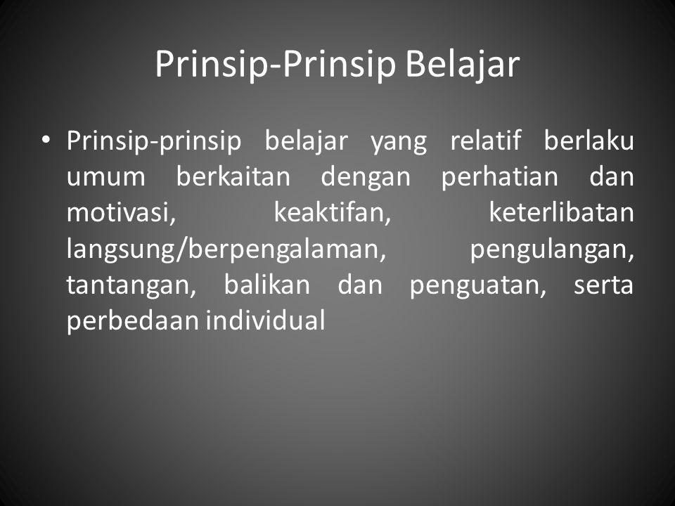 Prinsip-Prinsip Belajar