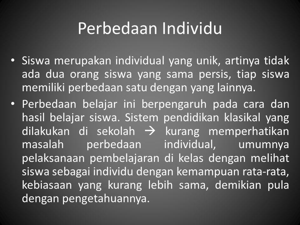 Perbedaan Individu