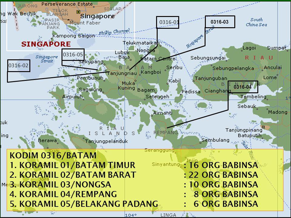 1. KORAMIL 01/BATAM TIMUR : 16 ORG BABINSA