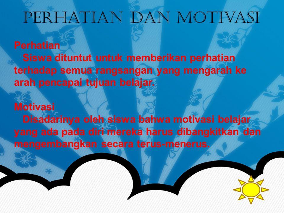 Perhatian dan Motivasi