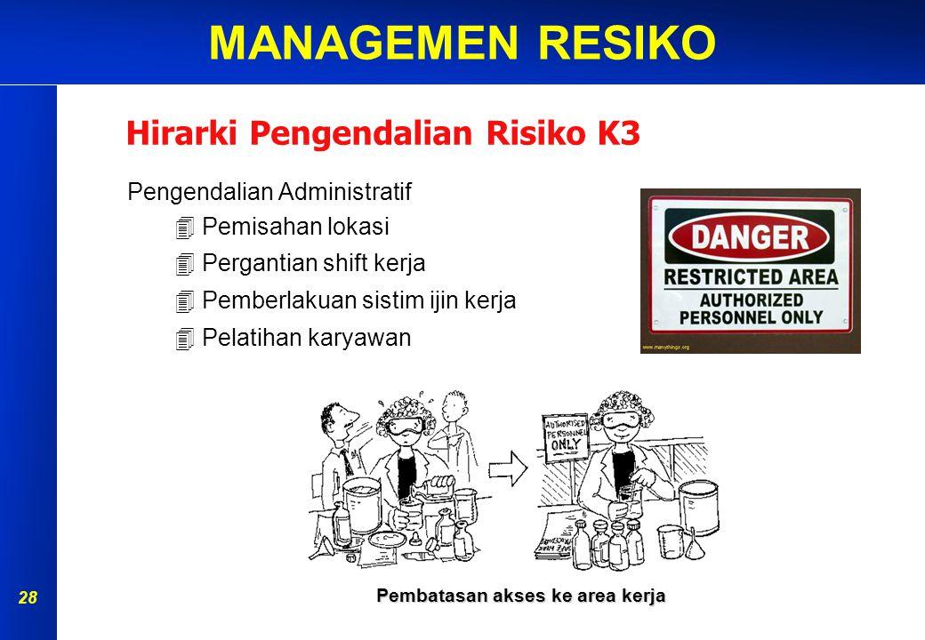 Pembatasan akses ke area kerja