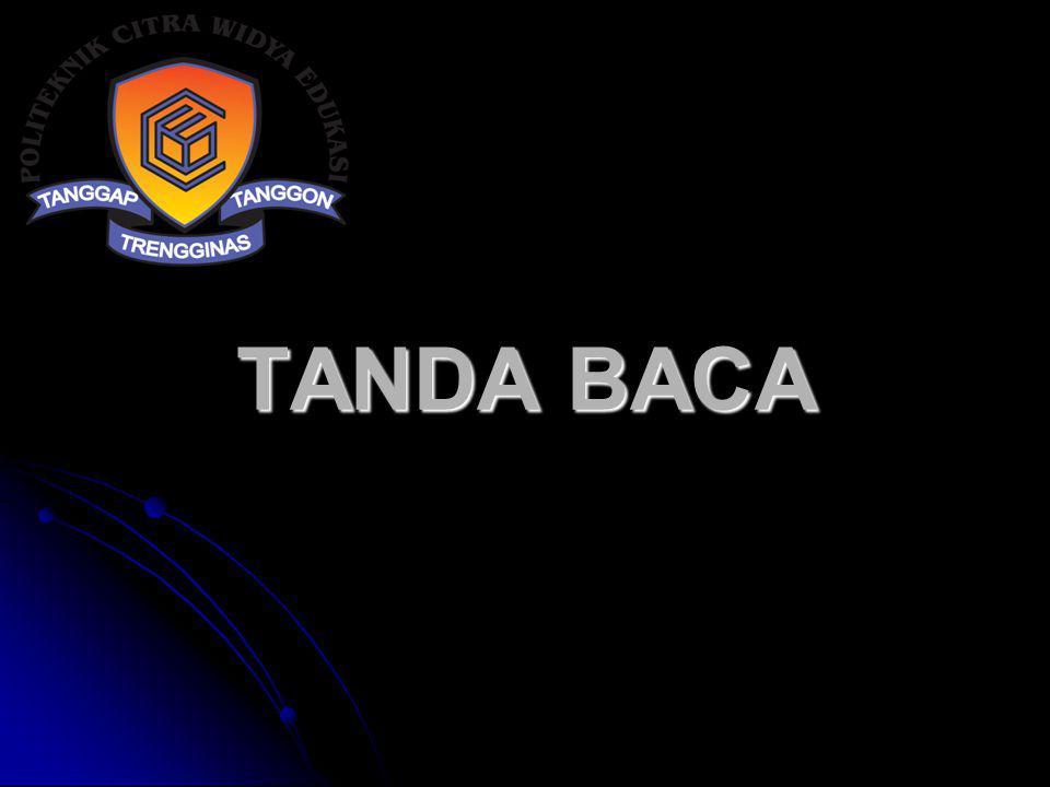 TANDA BACA