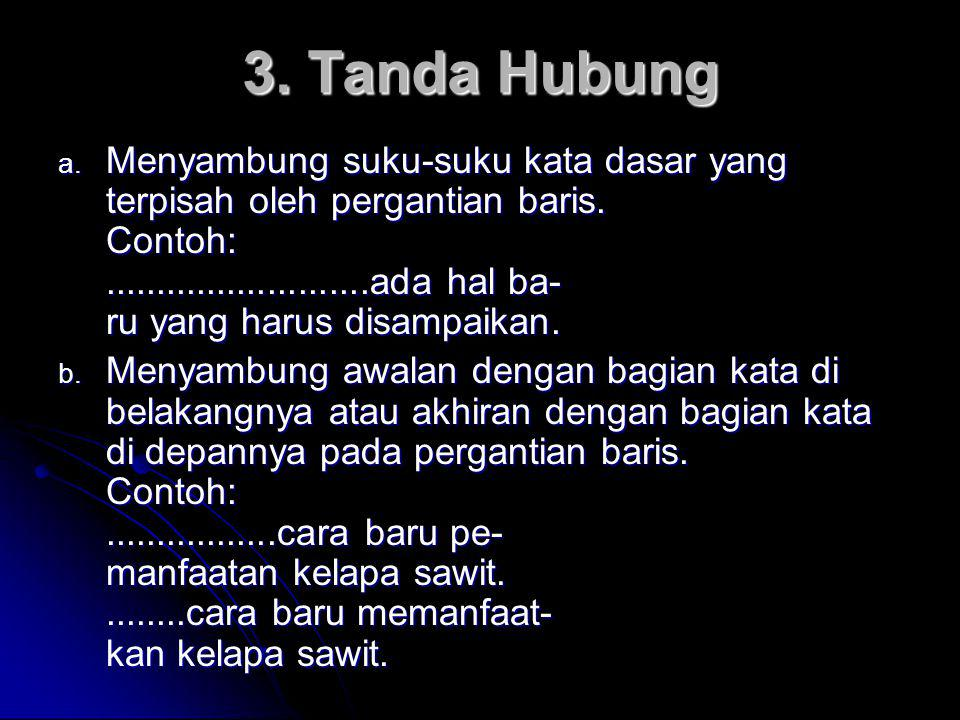 3. Tanda Hubung