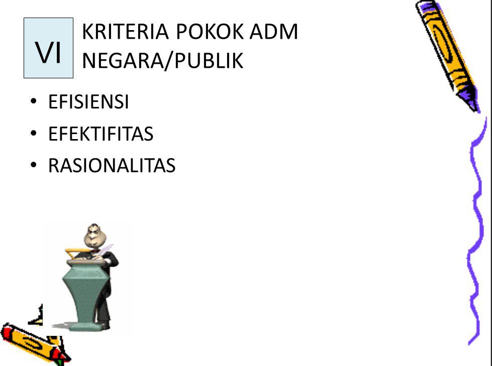 KRITERIA POKOK ADM NEGARA/PUBLIK