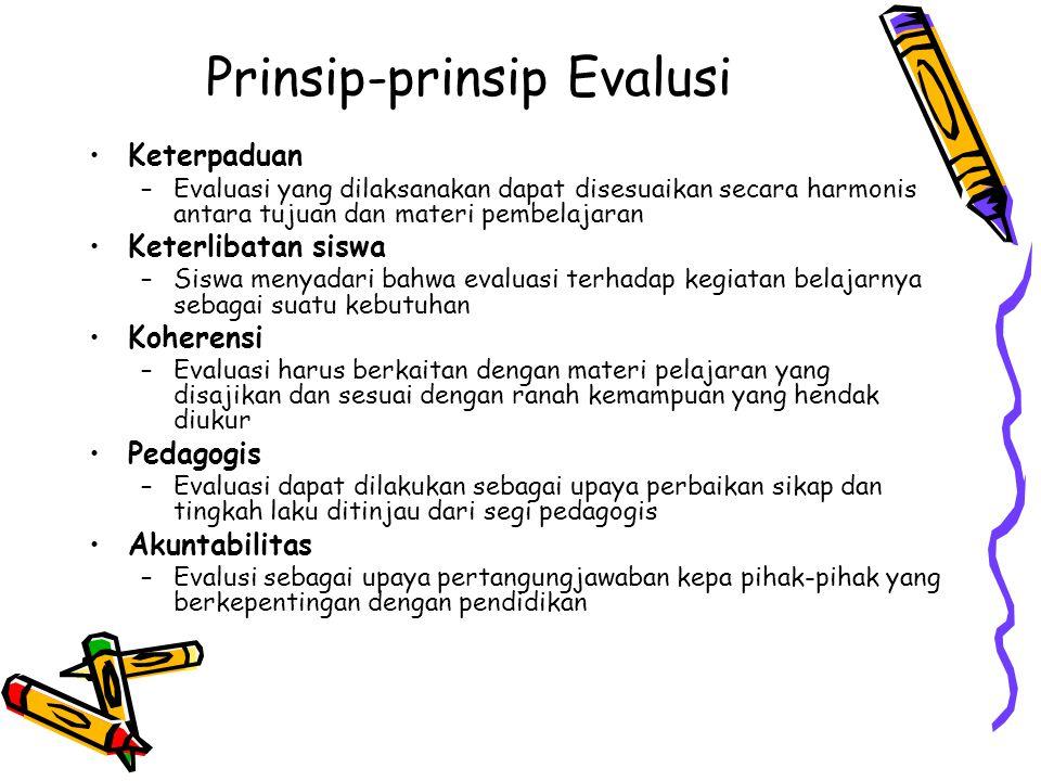 Prinsip-prinsip Evalusi