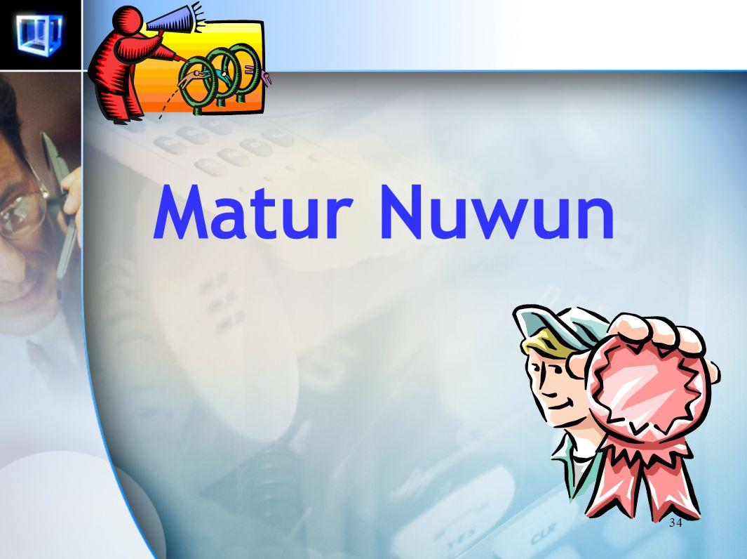 Matur Nuwun 34