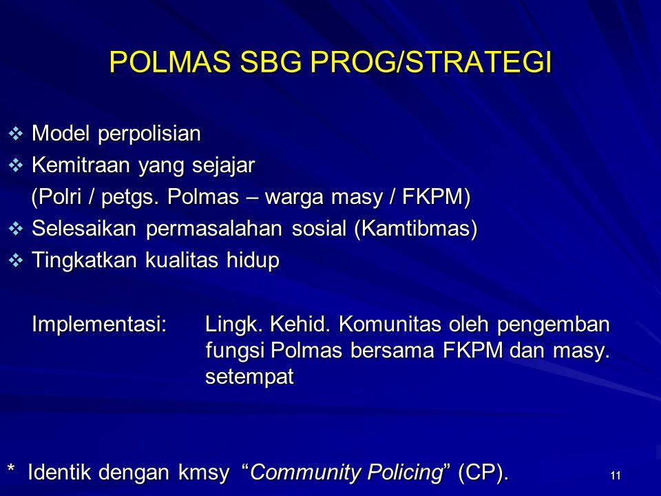 POLMAS SBG PROG/STRATEGI