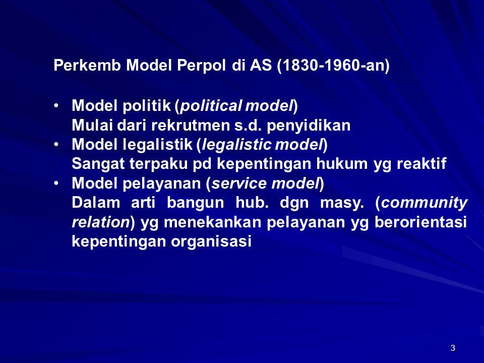 Perkemb Model Perpol di AS (1830-1960-an)
