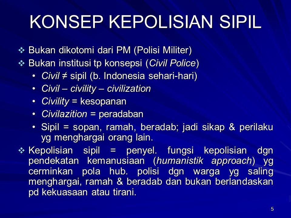 KONSEP KEPOLISIAN SIPIL