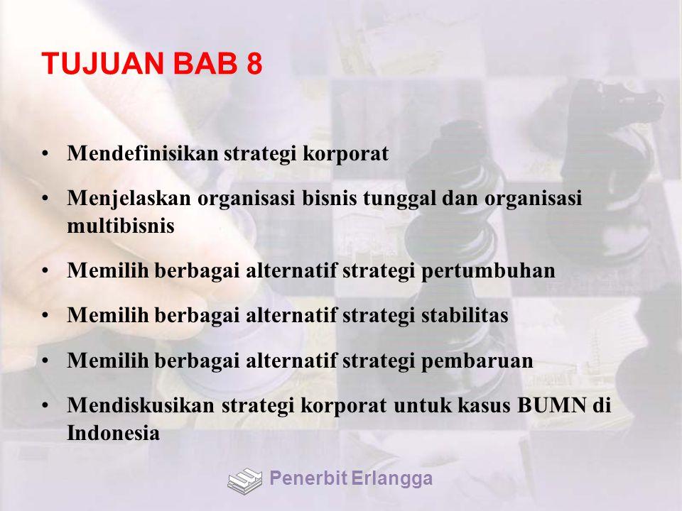 TUJUAN BAB 8 Mendefinisikan strategi korporat