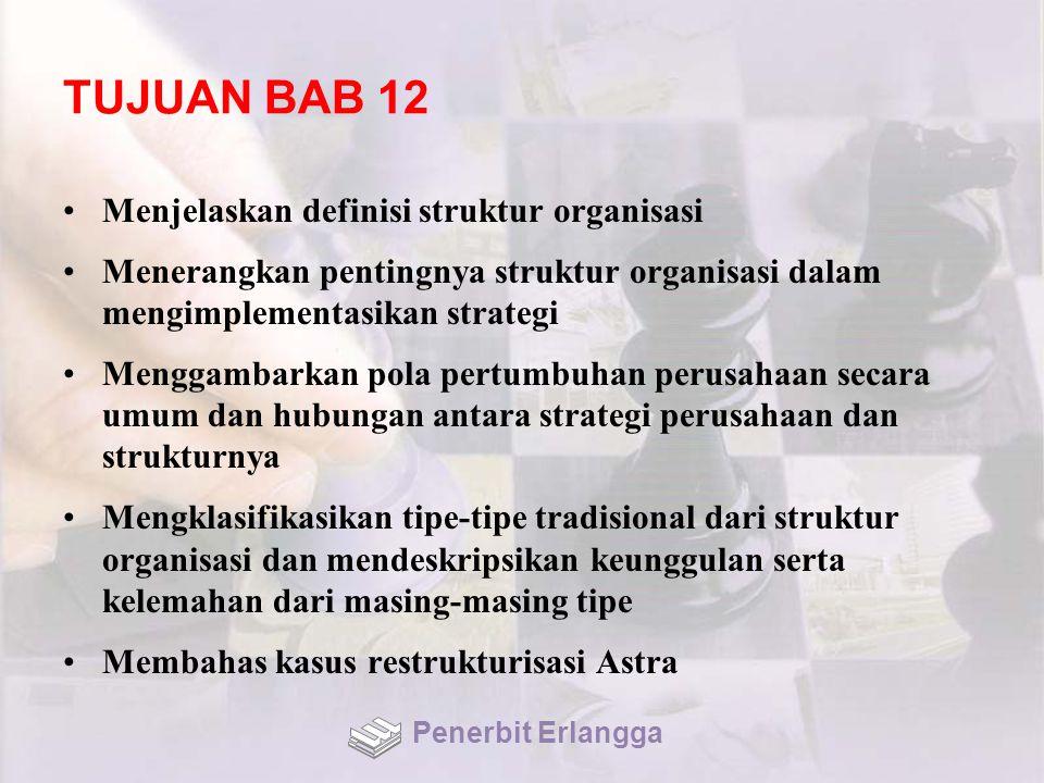 TUJUAN BAB 12 Menjelaskan definisi struktur organisasi
