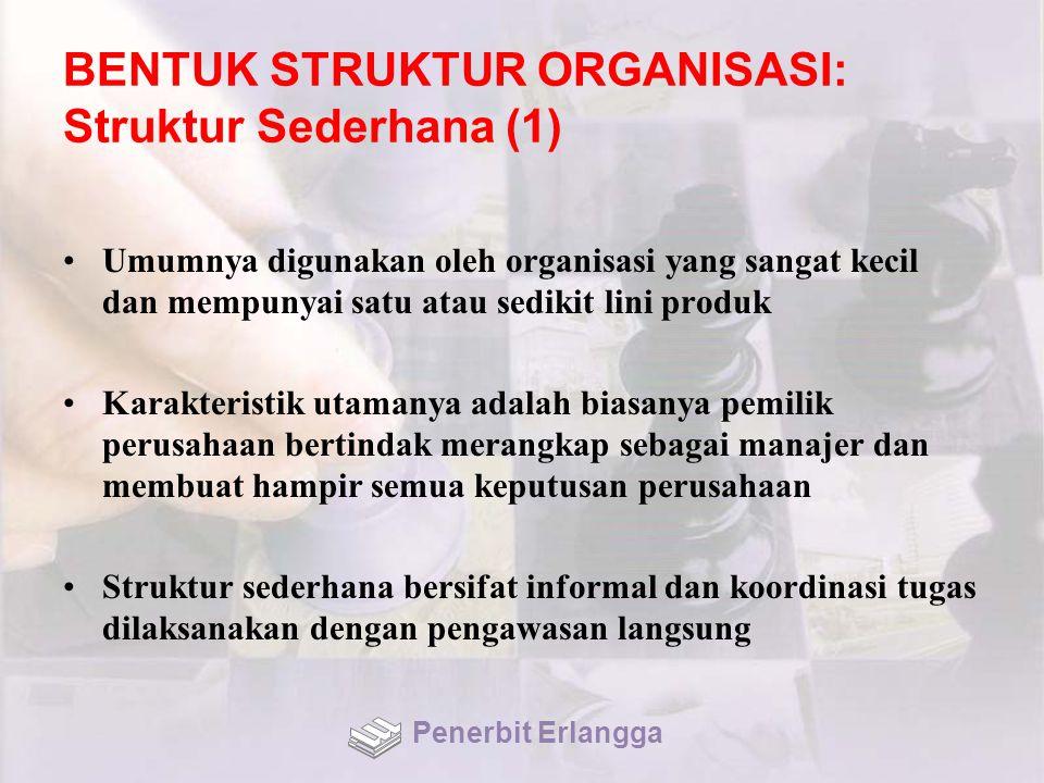 BENTUK STRUKTUR ORGANISASI: Struktur Sederhana (1)