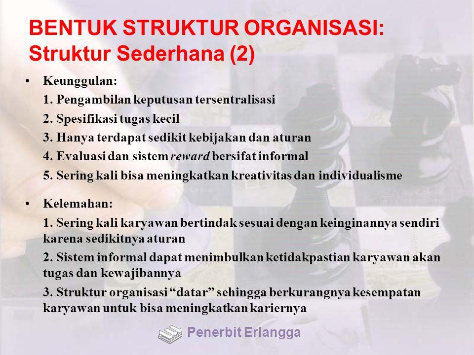 BENTUK STRUKTUR ORGANISASI: Struktur Sederhana (2)