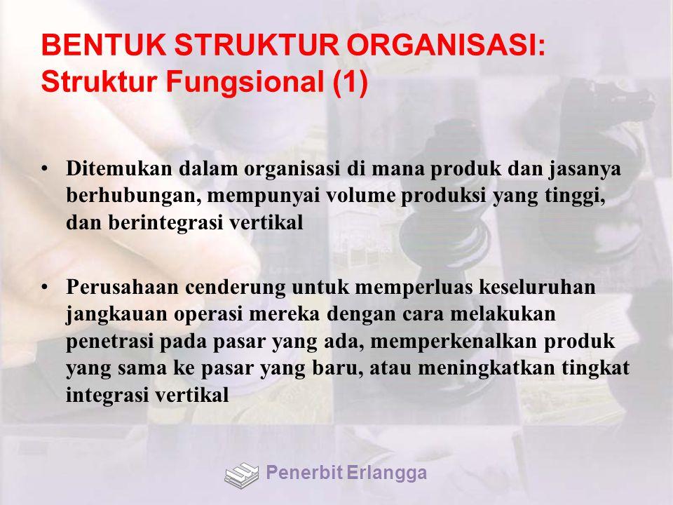 BENTUK STRUKTUR ORGANISASI: Struktur Fungsional (1)