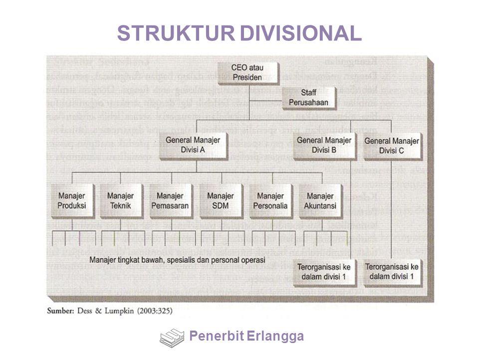 STRUKTUR DIVISIONAL Penerbit Erlangga
